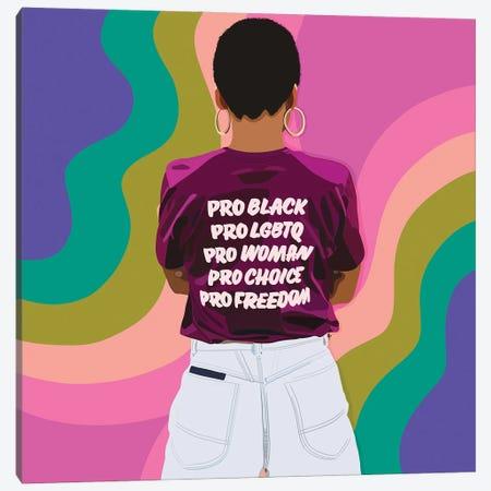 Pro Pride Month Canvas Print #HSM97} by Artpce Canvas Artwork