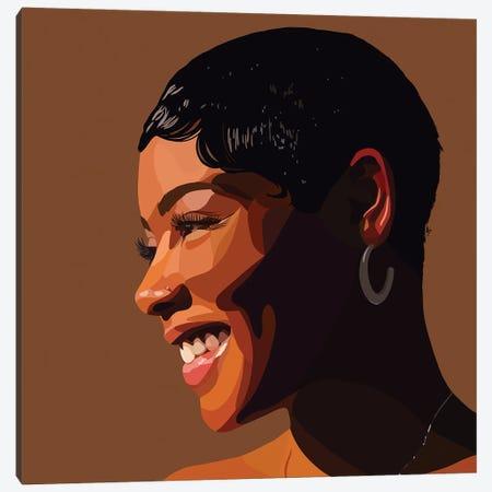 Brown Skin Girl Canvas Print #HSM99} by Artpce Art Print