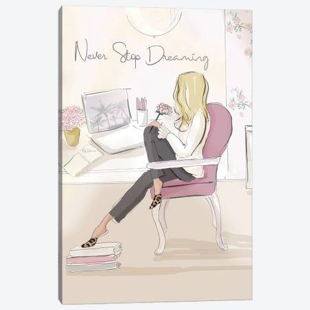 Never Stop Dreaming Canvas Print #HST103} by Heather Stillufsen Canvas Art Print
