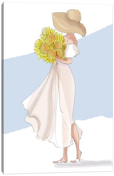 August Sunflowers Canvas Art Print
