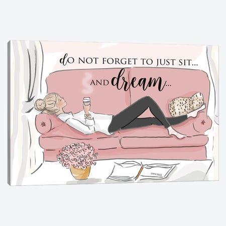 Sit And Dream Canvas Print #HST119} by Heather Stillufsen Canvas Artwork