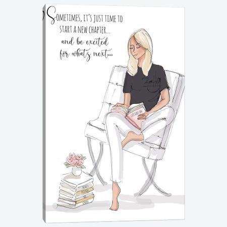 Start A New Chapter Canvas Print #HST123} by Heather Stillufsen Art Print