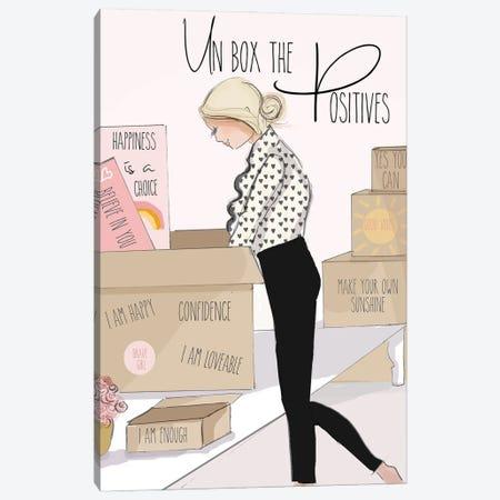 Un Box The Positives Canvas Print #HST142} by Heather Stillufsen Art Print