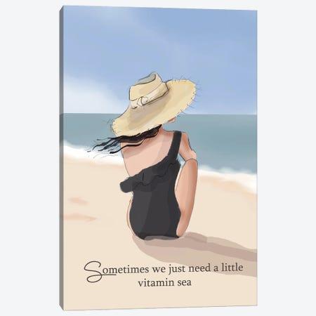 Vitamin Sea Canvas Print #HST144} by Heather Stillufsen Canvas Art