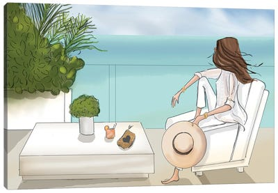 Weekend In Miami On The Terrace Canvas Art Print