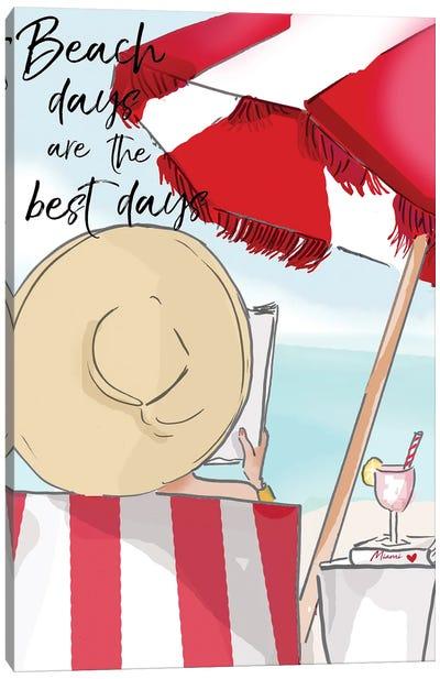 Beach Days Are The Best Canvas Art Print