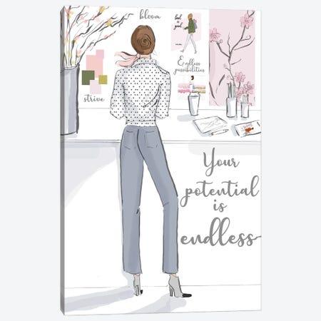 Your Potential Is Endless Canvas Print #HST170} by Heather Stillufsen Canvas Artwork