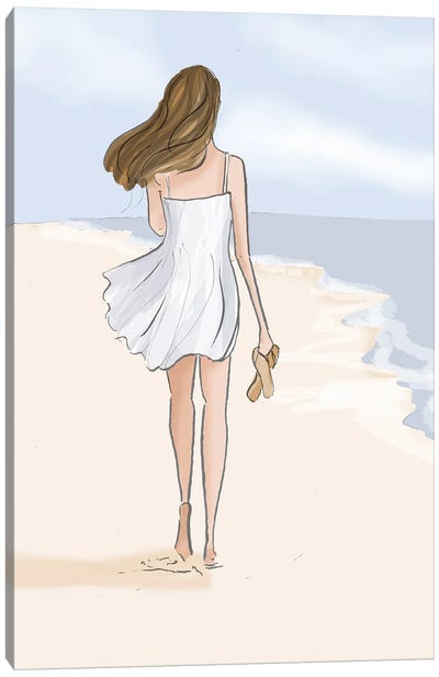 Beach Walks Are Good For The Soul - No Text Canvas Art Print