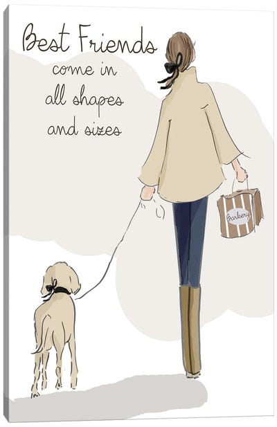 Best Friends Come In All Shapes Canvas Art Print