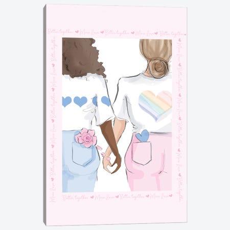 Better Together Canvas Print #HST25} by Heather Stillufsen Canvas Wall Art