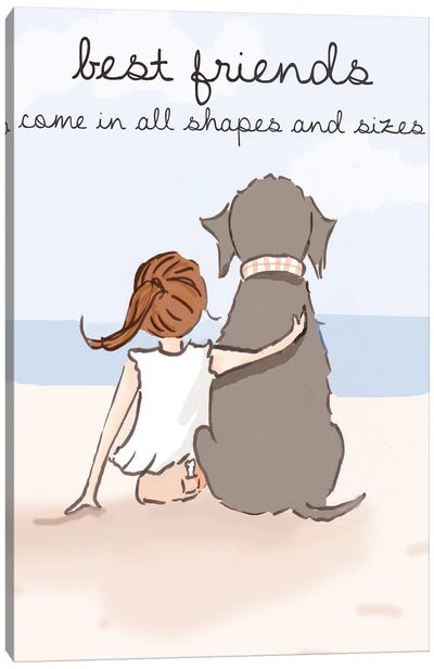 Best Friends Come In All Sizes Canvas Art Print