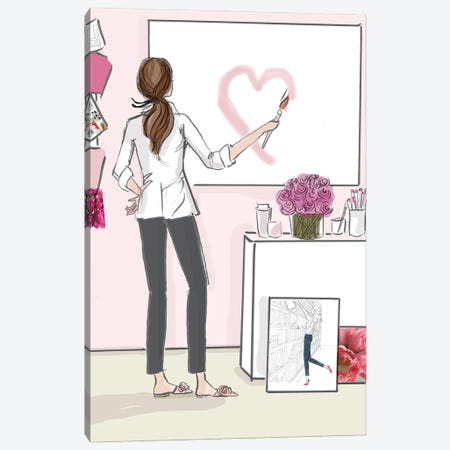Do What You Love And Follow Your Heart No Text Canvas Print #HST40} by Heather Stillufsen Art Print