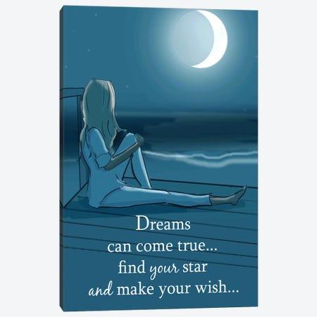 Dreams Can Come True Canvas Print #HST45} by Heather Stillufsen Canvas Wall Art