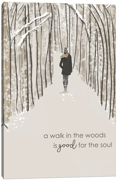 A Walk In The Woods Is.... Canvas Art Print