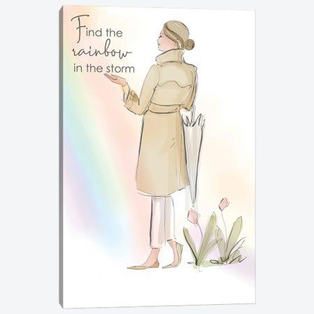 Find The Rainbow In The Storm Canvas Print #HST51} by Heather Stillufsen Canvas Wall Art