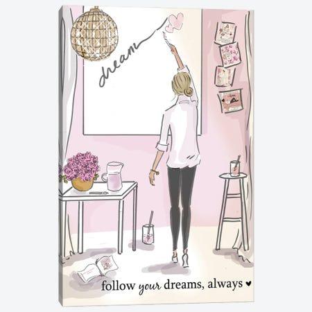 Follow Your Dreams Canvas Print #HST52} by Heather Stillufsen Canvas Art