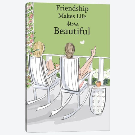 Friendship Makes Life More Beautiful Canvas Print #HST56} by Heather Stillufsen Canvas Art Print