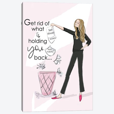 Get Rid Of What Is Holding You Back Canvas Print #HST58} by Heather Stillufsen Canvas Art