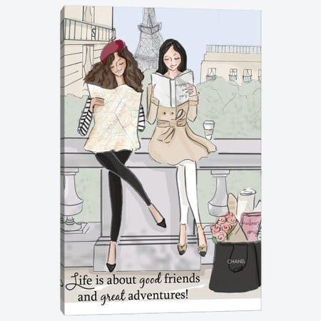 Good Friends And Great Adventures Canvas Print #HST63} by Heather Stillufsen Canvas Print