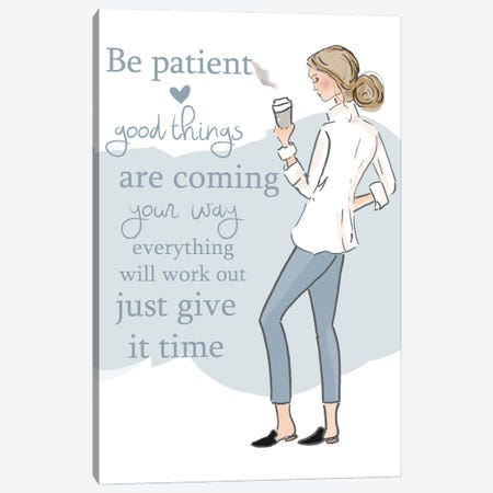 Good Things Are Coming Canvas Print #HST64} by Heather Stillufsen Canvas Wall Art