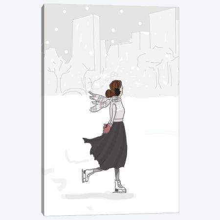 Ice Skating Canvas Print #HST69} by Heather Stillufsen Art Print