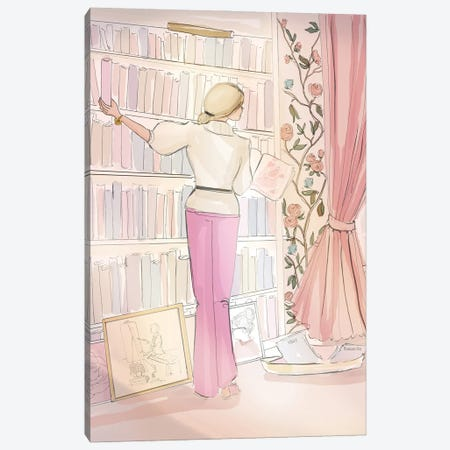 In The Rose Library Canvas Print #HST70} by Heather Stillufsen Canvas Wall Art