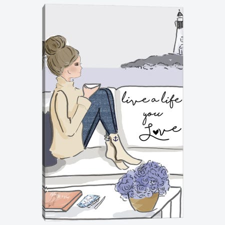 Live A Life You Love Canvas Print #HST84} by Heather Stillufsen Canvas Art