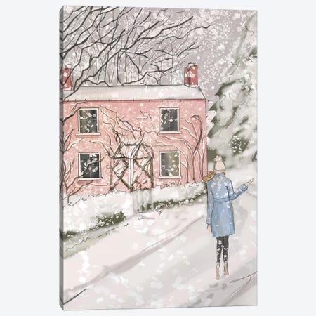 Baby Pink Cottage Canvas Print #HST9} by Heather Stillufsen Canvas Wall Art