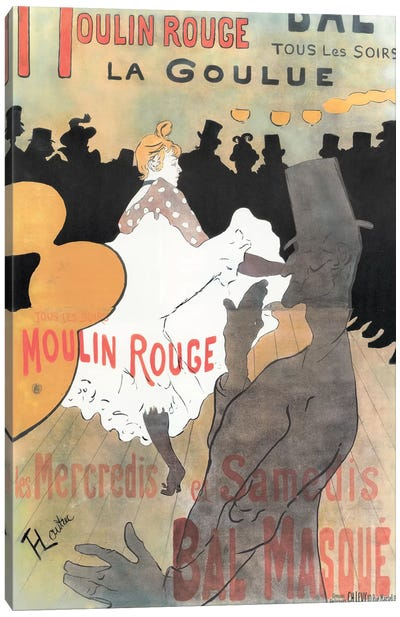Moulin Rouge: La Goulue Advertisement, 1891 Canvas Art Print