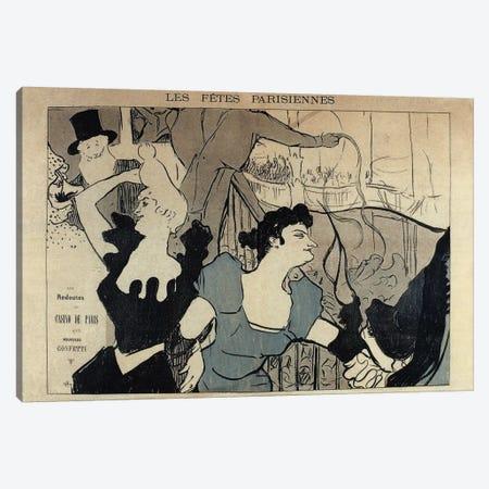Les Fêtes Parisiennes, 1892 3-Piece Canvas #HTL2} by Henri de Toulouse-Lautrec Canvas Art