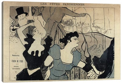 Les Fêtes Parisiennes, 1892 Canvas Art Print