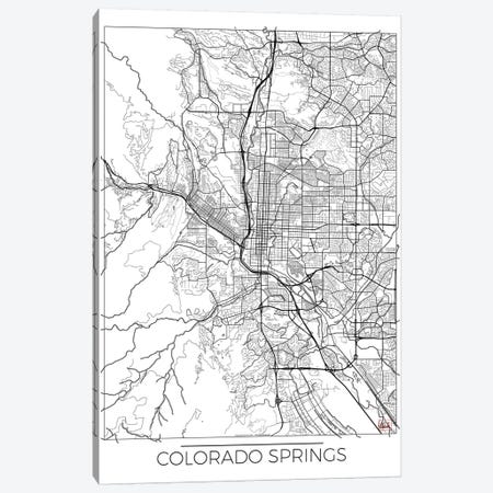 Colorado Springs Minimal Urban Blueprint Map 3-Piece Canvas #HUR100} by Hubert Roguski Canvas Art Print