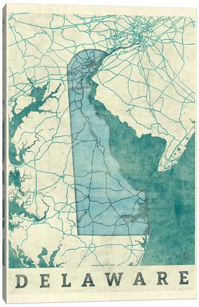 Delaware Map Canvas Art Print