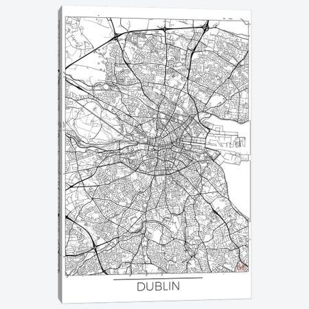 Dublin Minimal Urban Blueprint Map Canvas Print #HUR122} by Hubert Roguski Canvas Print