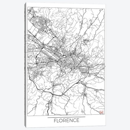 Florence Minimal Urban Blueprint Map Canvas Print #HUR127} by Hubert Roguski Canvas Art