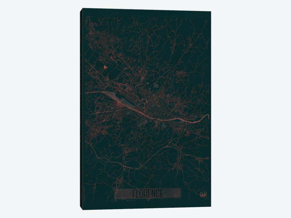 Florence Infrared Urban Blueprint Map by Hubert Roguski 1-piece Art Print