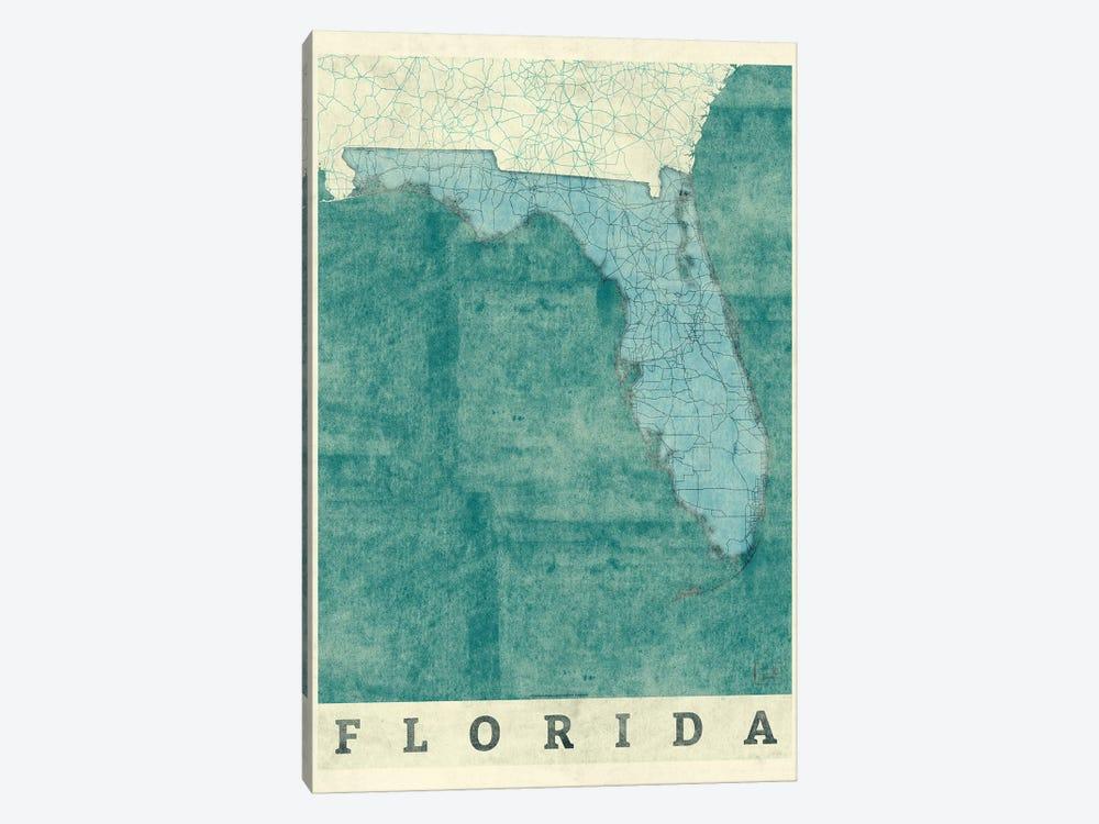Florida Map by Hubert Roguski 1-piece Canvas Print