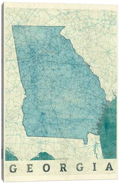 Georgia Map Canvas Art Print