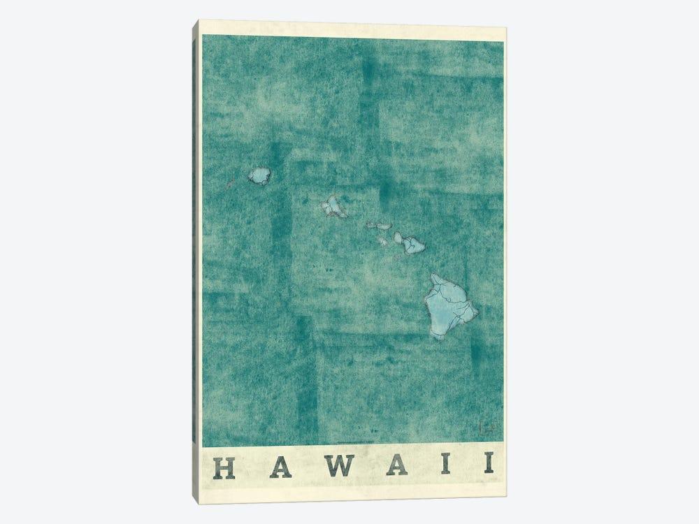 Hawaii Map by Hubert Roguski 1-piece Canvas Artwork