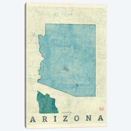 Arizona Map Canvas Print #HUR13} by Hubert Roguski Canvas Artwork