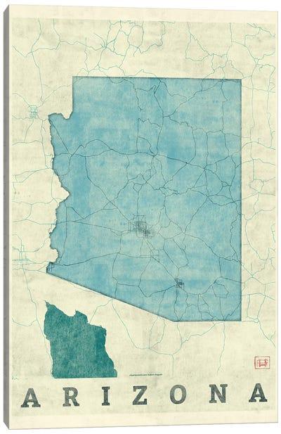 Arizona Map Canvas Art Print