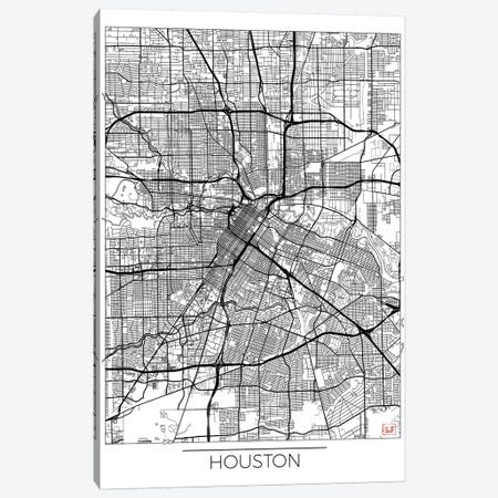 Houston Minimal Urban Blueprint Map Canvas Print #HUR145} by Hubert Roguski Canvas Wall Art
