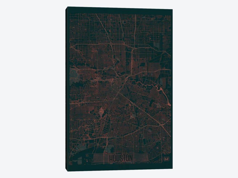 Houston Infrared Urban Blueprint Map by Hubert Roguski 1-piece Art Print