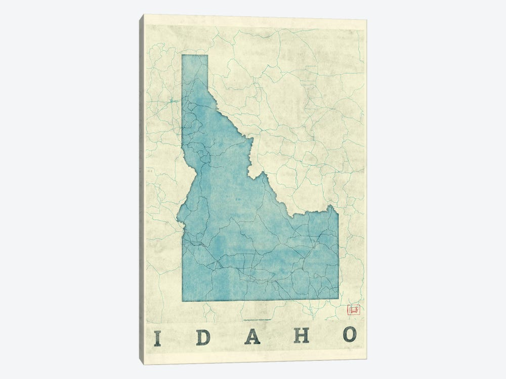 Idaho Map by Hubert Roguski 1-piece Canvas Artwork