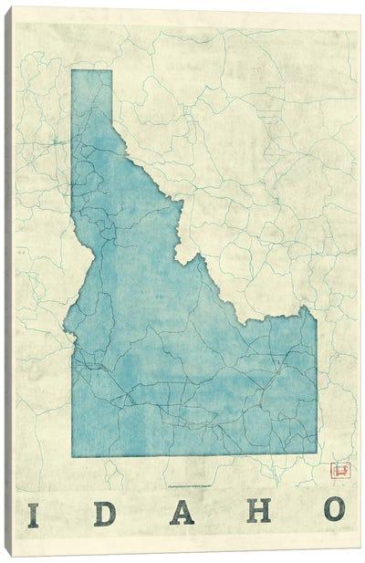 Idaho Map Canvas Art Print