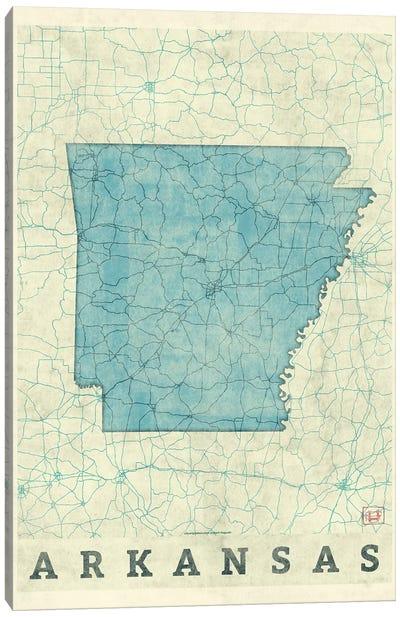 Arkansas Map Canvas Art Print