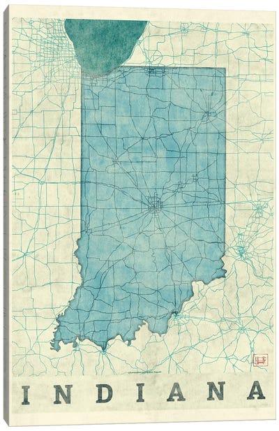 Indiana Map Canvas Art Print
