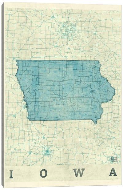 Iowa Map Canvas Art Print