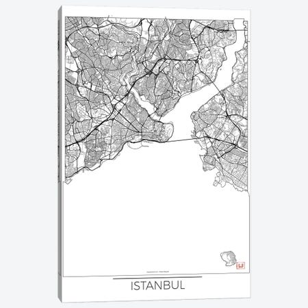Istanbul Minimal Urban Blueprint Map 3-Piece Canvas #HUR159} by Hubert Roguski Canvas Art