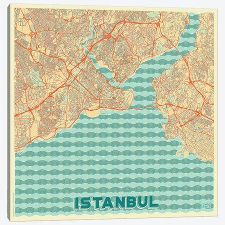 Istanbul Retro Urban Blueprint Map Canvas Print #HUR161} by Hubert Roguski Canvas Art Print